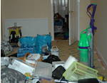 clear a cluttered room before starting